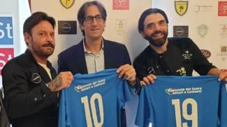 Totò Schillaci con l'assessore Gianluca Brasini e Mario Fucili