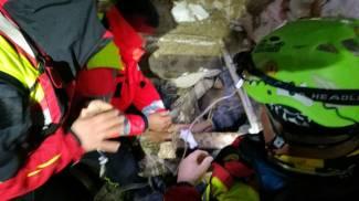 Le operazioni per il salvataggio di Giampaolo Matrone