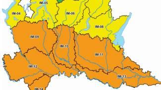 Le zone con allerta gialla e arancione