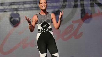 Michelle Hunziker sul palco dell'Iron Ciapèt