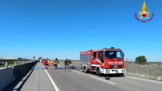 Il luogo dell'incidente (foto Vigili del Fuoco)
