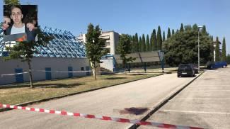 Il parcheggio dove è stato ucciso Filippo Limini (nel riquadro)