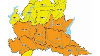 L'allerta delle protezione civile lombarda
