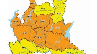 La mappa della Protezione Civile della Lombardia