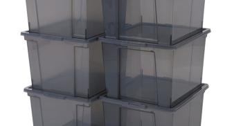 Iris Ohyama, set di 6 scatole di stoccaggio