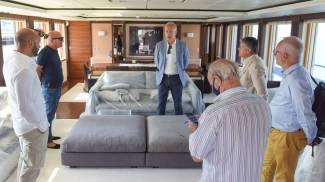 Visita a bordo dello yacth di super lusso (foto De Marco)