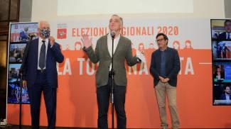 Da sin. Giani, Rossi e Martini, ultimi tre presidenti di Regione (New Press Photo)