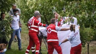 Chloe Dygert soccorsa e portata in ospedale a Bologna (Ansa)