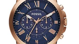 Fossil Orologio Cronografo in pelle su amazon.com