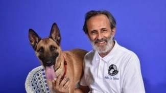 Aldo La Spina con Nala
