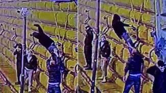 La telecamera danneggiata da un manifestante a Firenze