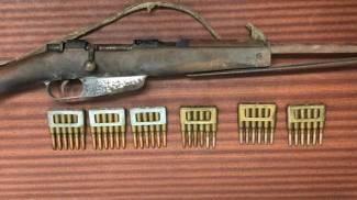 Il fucile con le munizioni ritrovate