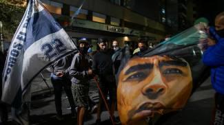 Diego Armando Maradona ricoverato in clinica a La Plata (Ansa)