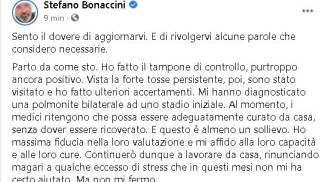 Covid, Stefano Bonaccini ha la polmonite. Il post su Facebook