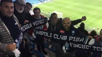 I tifosi pisani del Napoli allo stadio