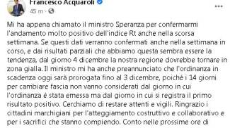 Il post di Acquaroli