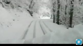 La nevicata nei dintorni di Renaio (Da Il Giornale di Barga)