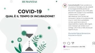 campagna anti contagio Humanitas