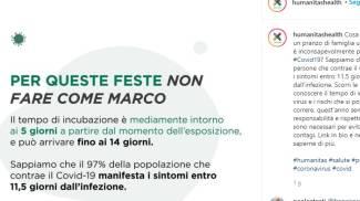 """campagna anti contagio Humanitas """"Non fare come Marco"""""""