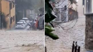 Il video della strada allagata a Montenero