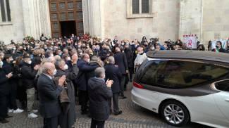 Il funerale di Paolo Rossi nella cattedrale di Vicenza (Ansa)