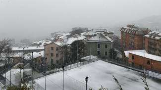 Neve a Genova e dintorni (Ansa)