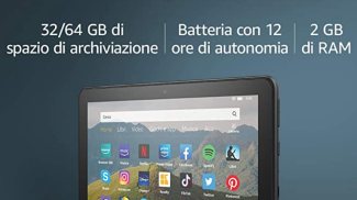 Tablet Fire HD 8 su amazon.com
