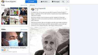 Facebook, Zingaretti posta la foto di Fiorina Fiorelli