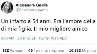 Il tweet di Alessandra Casella