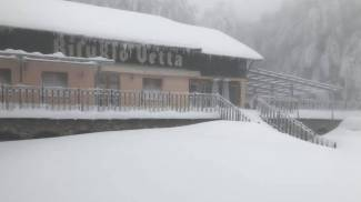 La neve sul Monte Amiata
