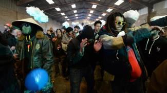 Il rave party a Rennes (Ansa)