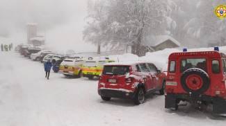 Parma, le ricerche dello scialpinista disperso (Ansa)