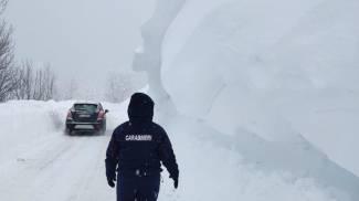 La neve sull'Appennino emiliano (Ansa)