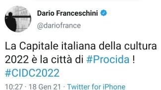 Il post del ministro Franceschini