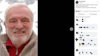 Il post su Facebook del figlio di Cesare Maestri