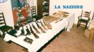 Il sequestro dell'arsenale