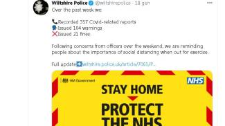 Il post della polizia del Wiltshire