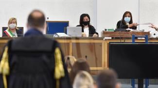 L'udienza del processo per i fatti di piazza San Carlo a Torino (Ansa)