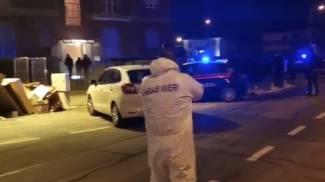 Carabinieri al lavoro a Carmagnola (screenshot video Ansa)