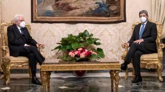 Sergio Mattarella e Roberto Fico (Ansa)