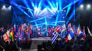Cortina, la cerimonia di apertura dei Mondiali di sci (Ansa)