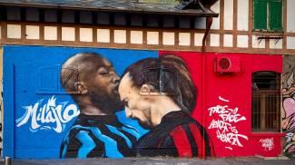 Ibra-Lukaku: il murales