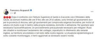 Il post di Francesco Acquaroli