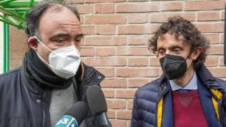 Gli avvocati Domenico Fragapane e Dario Cutaia, difensori della maestra d'asilo (Ansa)