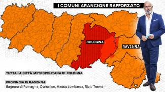 Emilia Romagna, i Comuni in zona arancione rafforzata