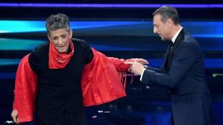 Fiorello e Amadeus a Sanremo (Ansa)