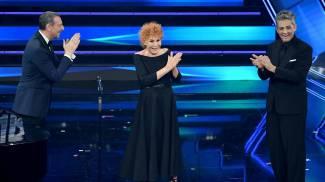 Fiorello, Amadeus e Ornella Vanoni (Ansa)