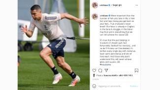 Il post di Cristiano Ronaldo su Instagram
