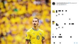 Il post di Zlatan Ibrahimovic su Instagram