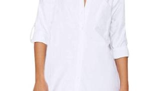 Auxo - Camicia Lunga da donna su amazon.com